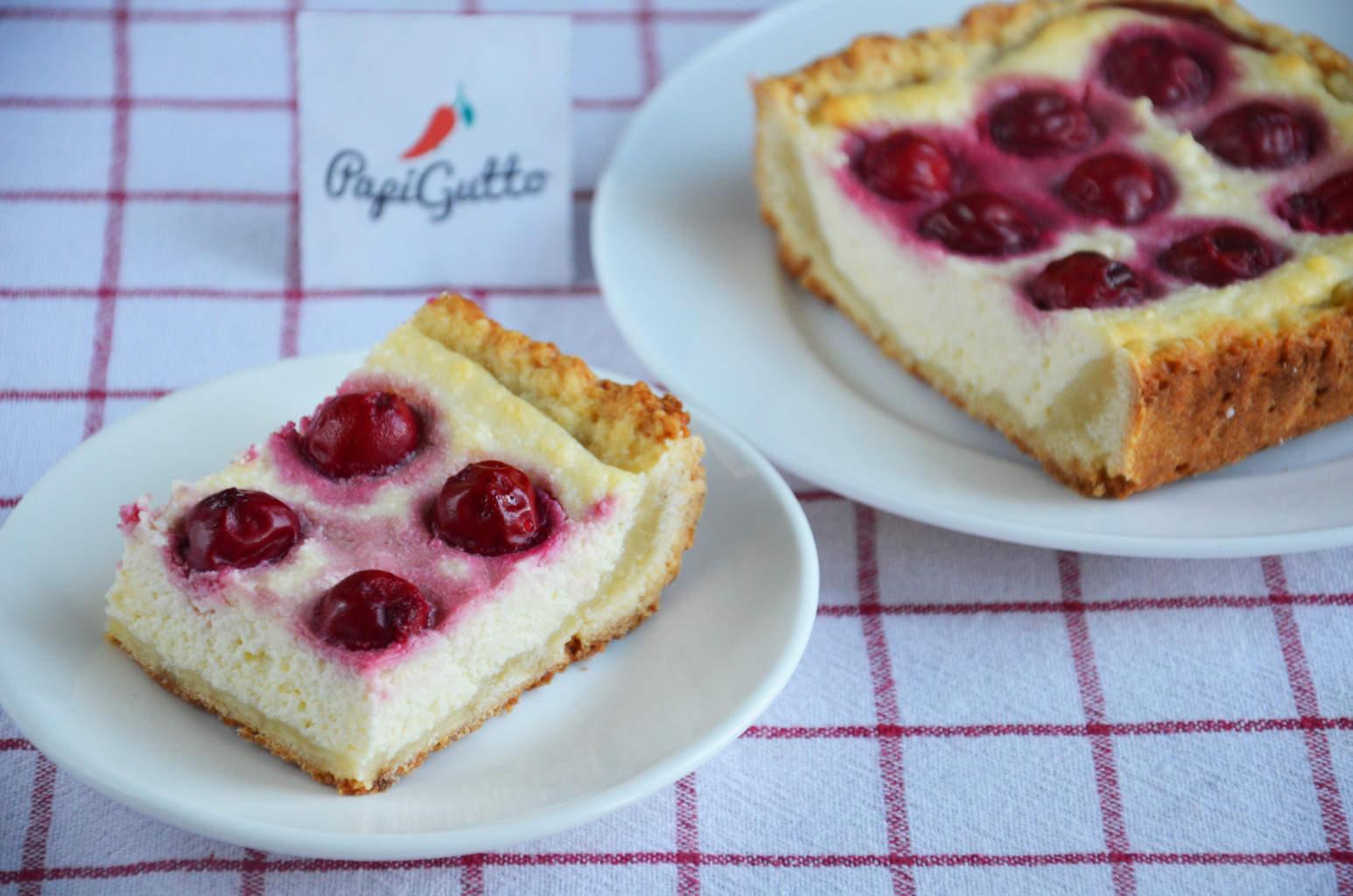 Пирог с вишней быстрый рецепт с пошагово в