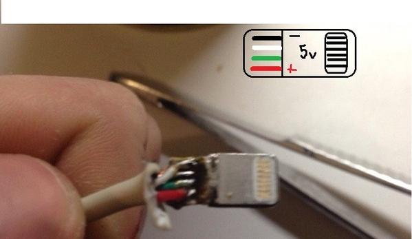 Схема и ремонт кабеля iphone