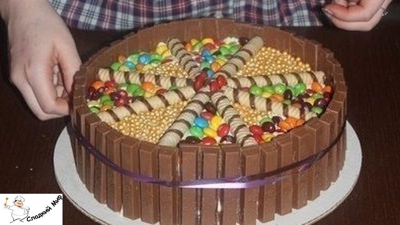 Как сделать из бисквитных коржей торт