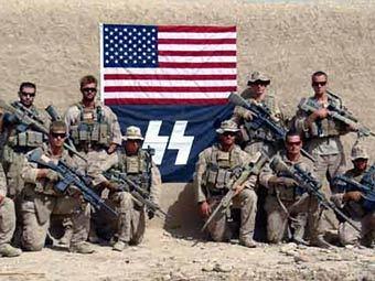 Американские морпехи в Афганистане сфотографировались с флагом СС