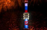 Часы на Останкинской телебашне начали обратный отсчет до Нового года