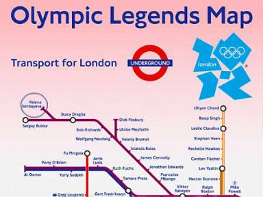 Транспортное управление Лондона в преддверии Олимпийских игр презентовало специальную карту городского метро...