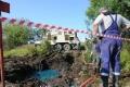 15.08.2011 19:57:06.  Продолжаются работы по сбору дизельного топлива у населенного пункта Марьино Рязанской области.