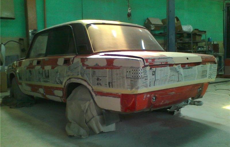 Подготовка машины к покраске ваз 2105