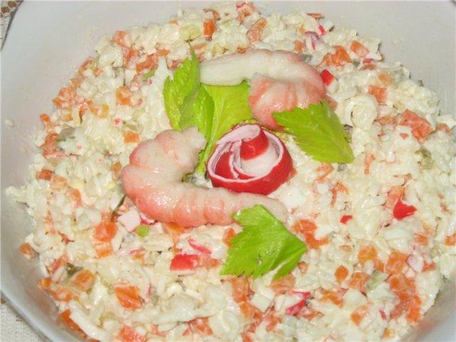 Салат с мясом краба рецепт очень вкусный