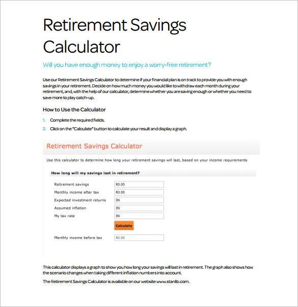 Memberdirect retirement calculator us mail