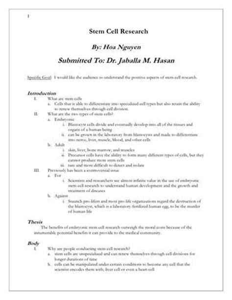 Write my stem cell research paper topics