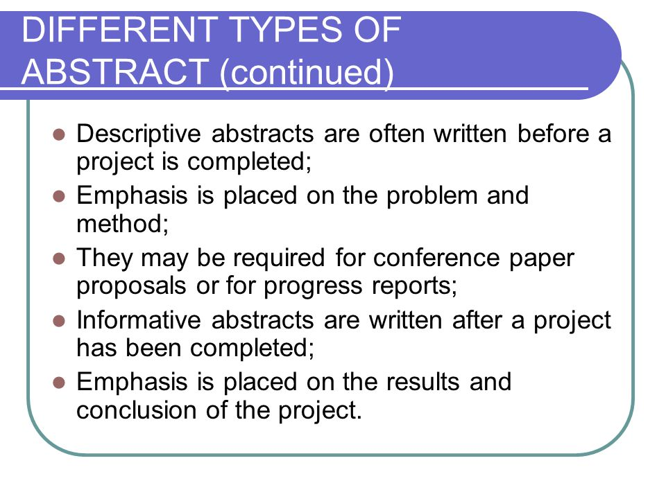 Writing a Great Abstract - International Studies
