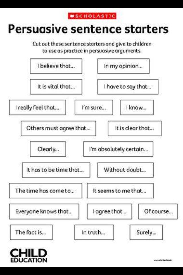 closing sentence starters