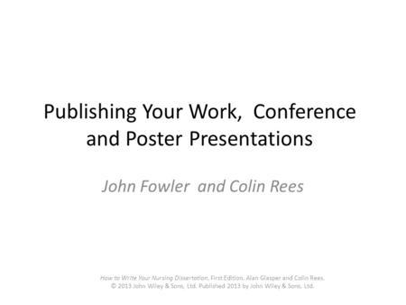 Write my publishing dissertation
