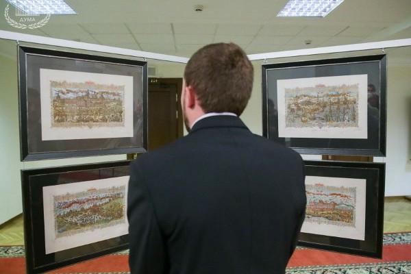 Работы ростовского гравера представлены навыставке вГосударственной Думе Российской Федерации
