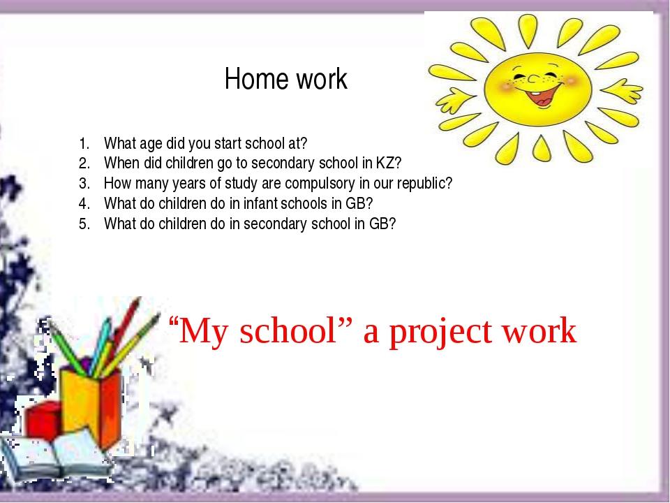 Do my school work