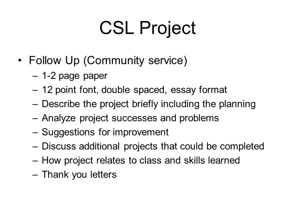 Write my service learning paper