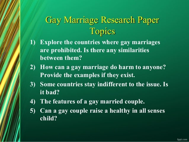 Write my gay marriage term paper
