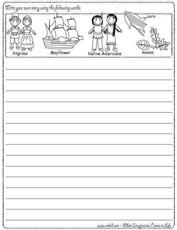 Narrative Writing Paper Kindergarten - Floss Papers