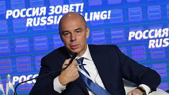 Силуанов: в 2019г финансирование дефицита бюджета будет засчет внутренних заимствований