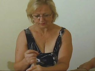 Blonde hairy mom outdoor