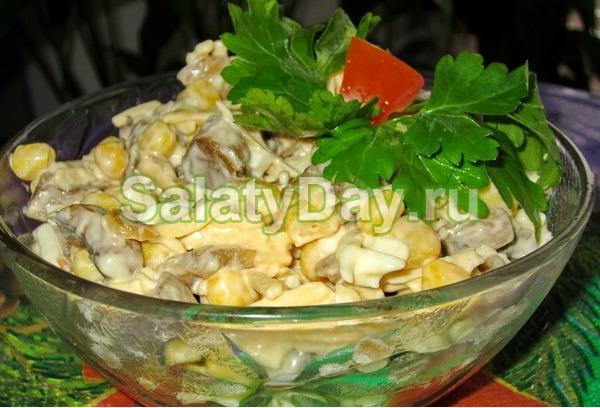 салаты из грибов рецепты с фото
