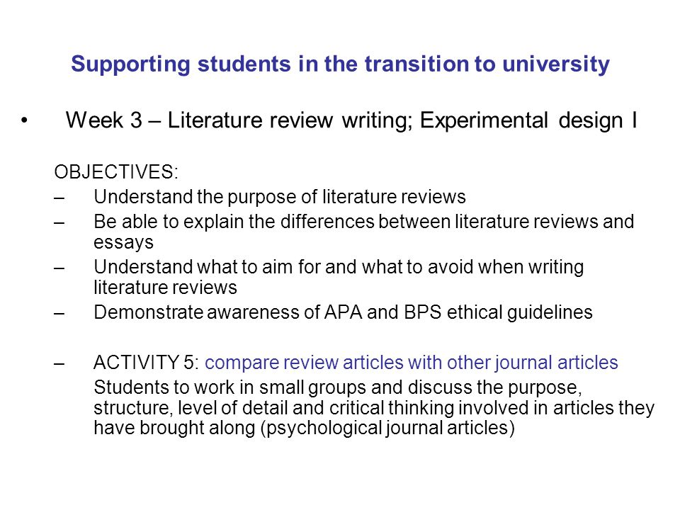 Organizing an Essay - University College