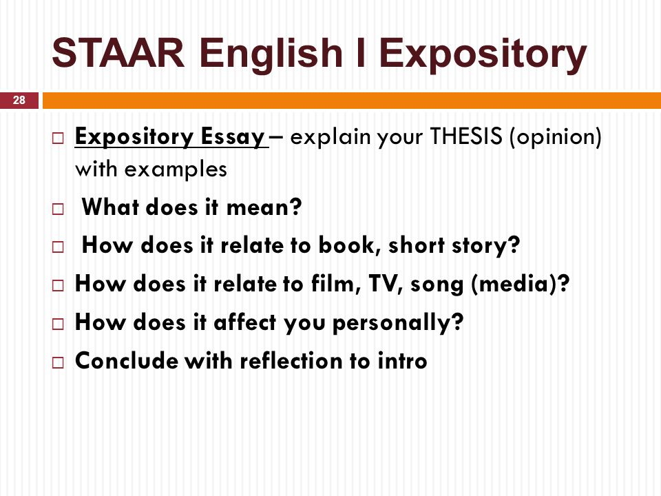 Expository essays definition