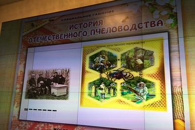 Церемония гашения посвященных пчеловодству почтовых марок прошла вГосдуме