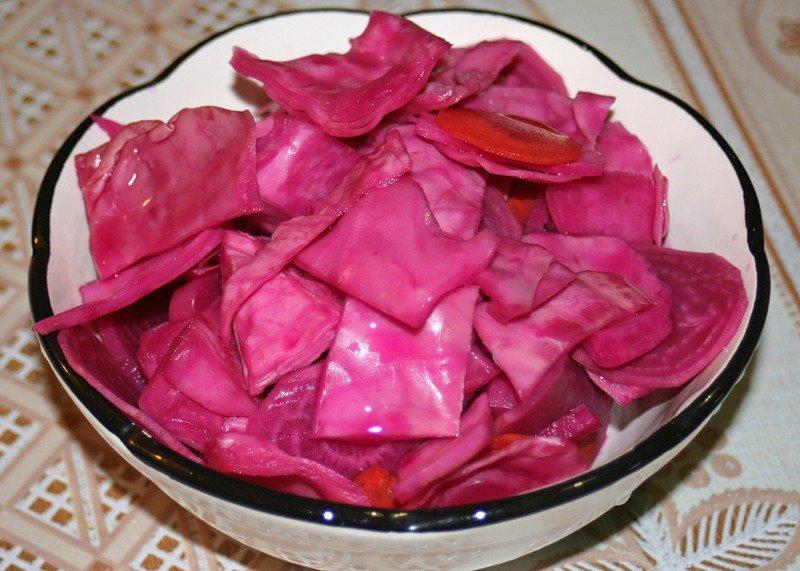 Рецепты быстрой засолки капусты кусками