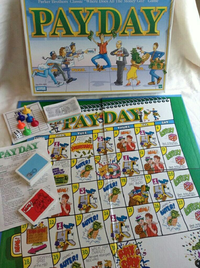 Parker payday board game rules