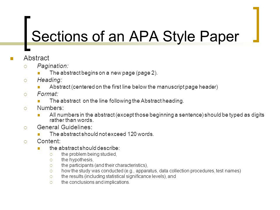 Guidelines for Preparing and Formatting APA Essays