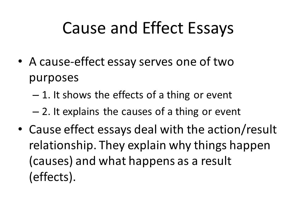 Write my cause effect essays topics