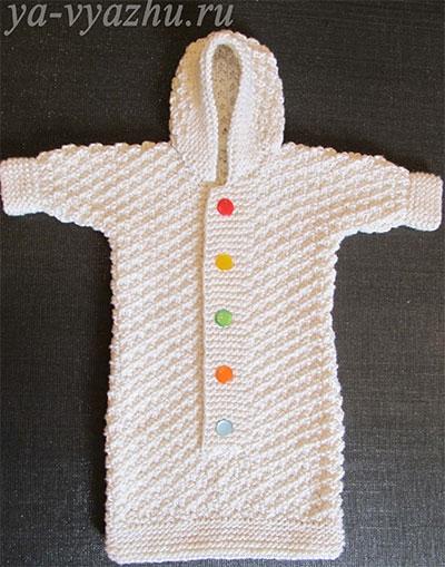 вязание ползунков для новорожденных