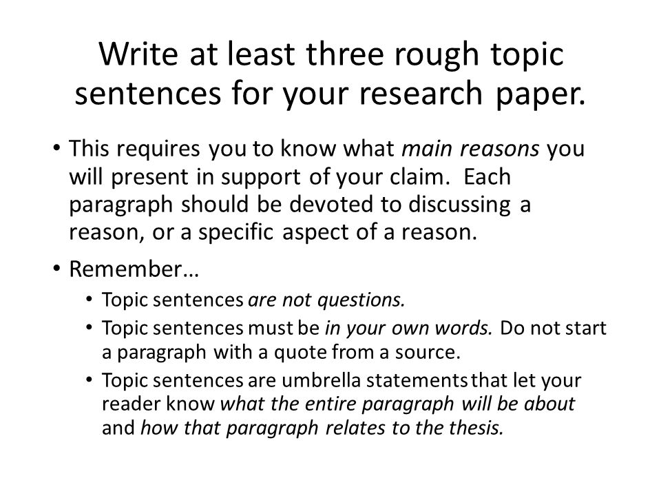 Topic in research paper