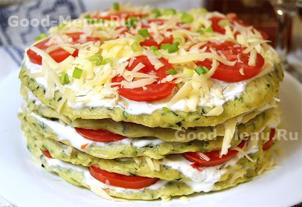 Торт из кабачков с помидорами рецепты быстро и вкусно с фото