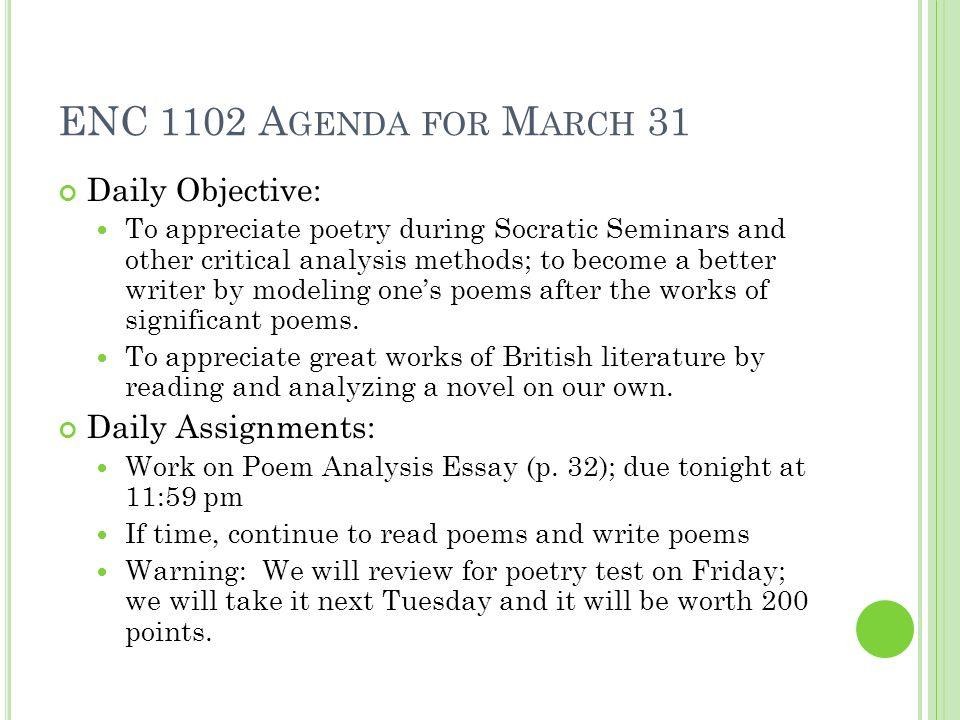 Poetry explication essay example