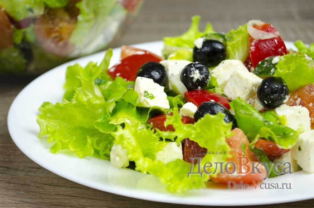 Рецепт приготовления греческого салата фото