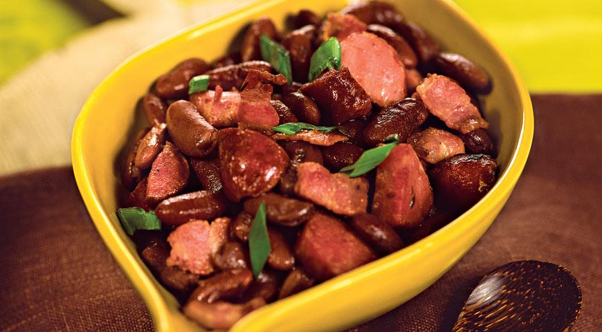курица с красной фасолью рецепт с фото