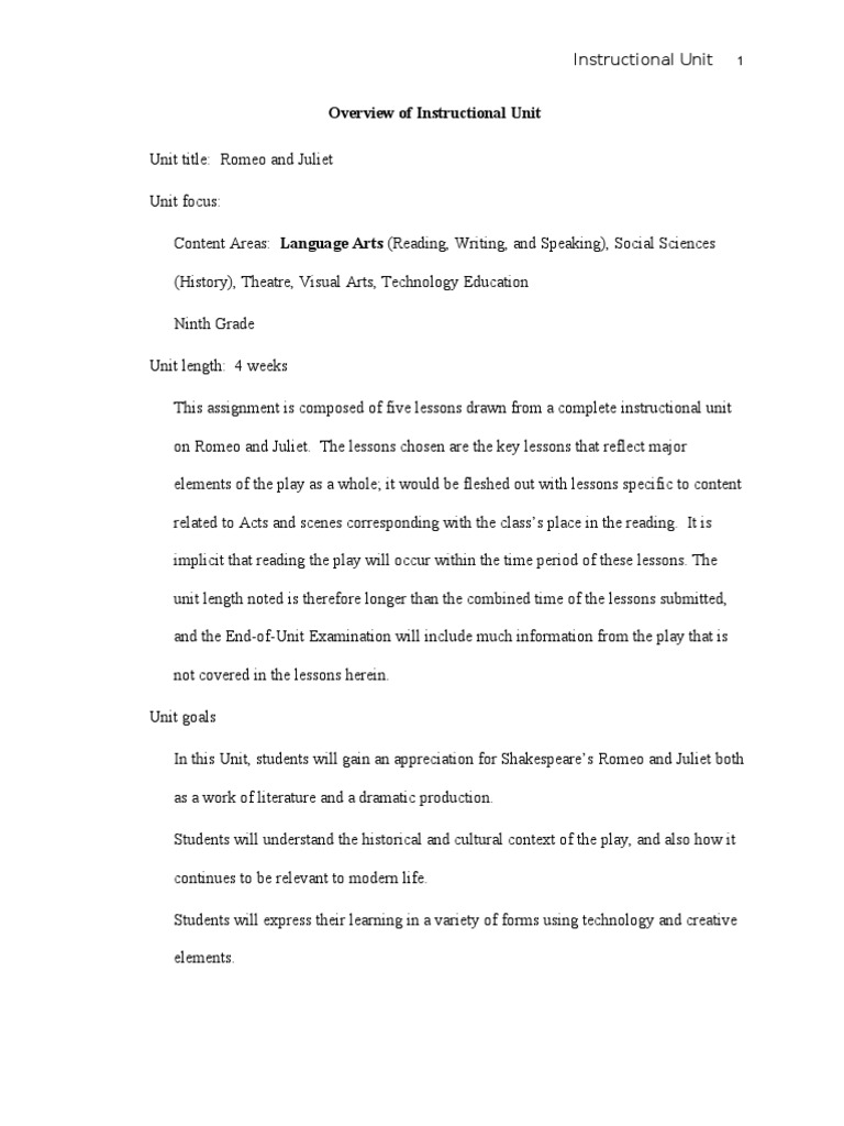 Romeo and juliet essay intro - Creative Writing