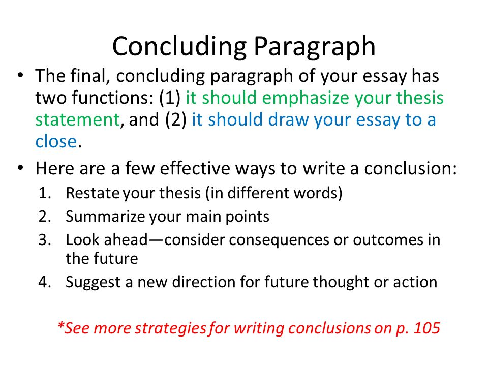 tips on writing a conclusion paragraph