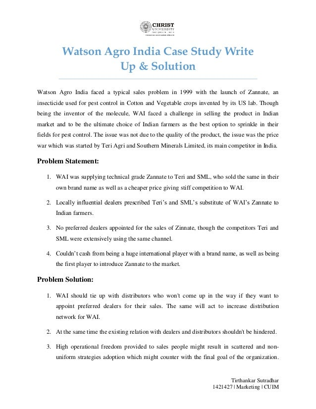 Example of a case study paper