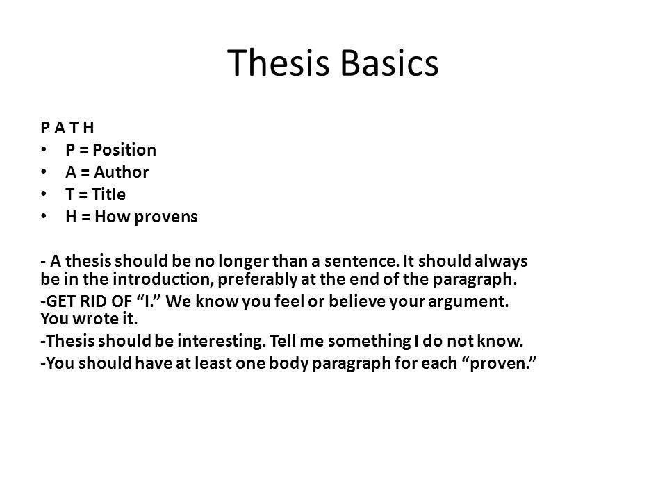 How do i write a thesis statement - Vanderbilt University