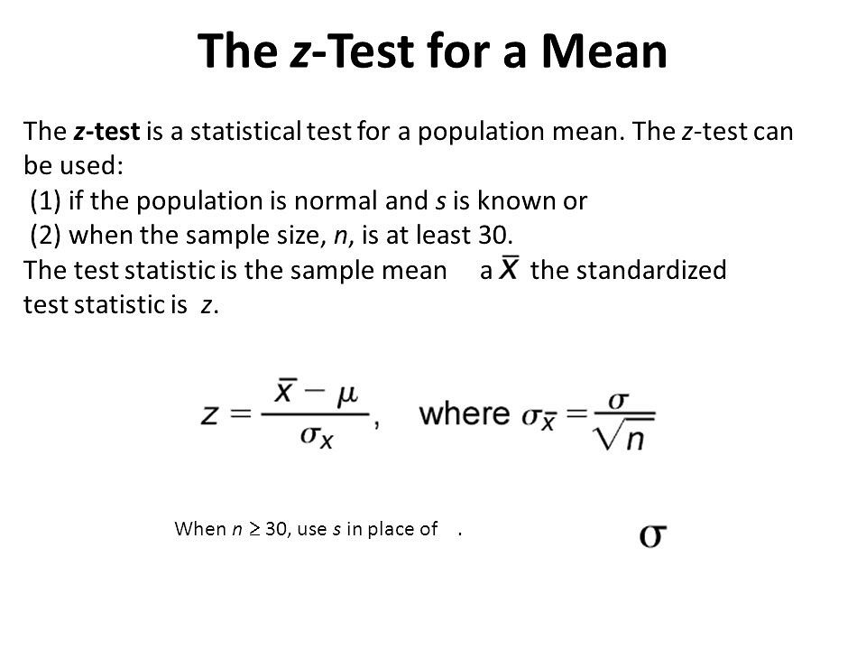 Hypothesis testing z test