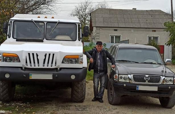 Украинец построил гигантский внедорожник изГАЗ-66иMercedes-Benz