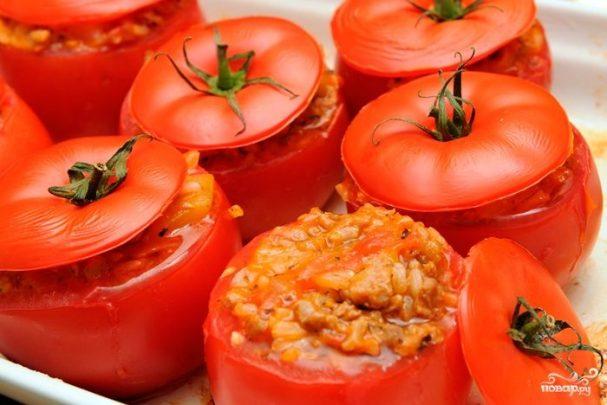 Фаршированные свежие помидоры рецепт с фото
