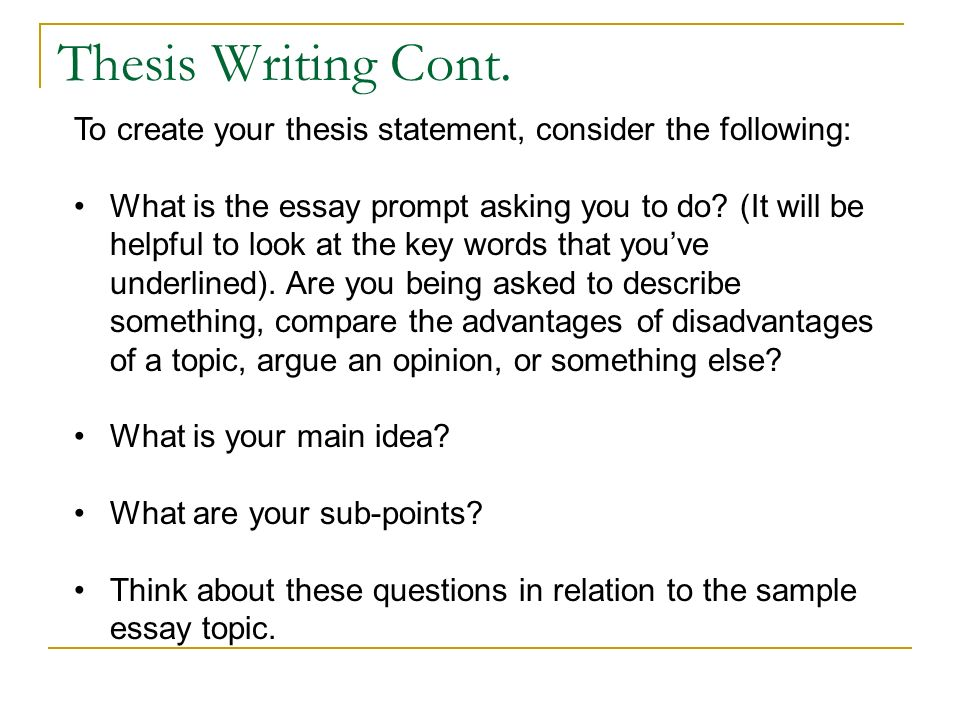 Write my example of thesis topics
