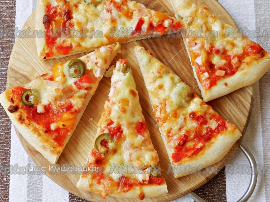 Пицца на тонком тесте рецепт с фото