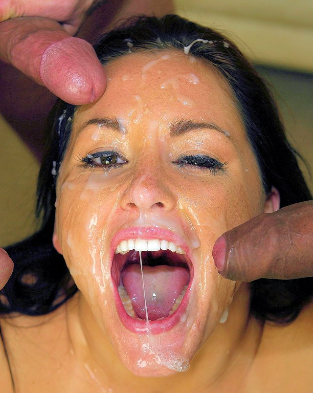 Gang bang messy facial movies