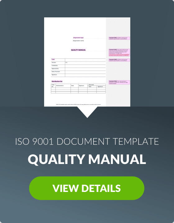 ISO 9001 Quality Systems Manual - Micro Memory Bank