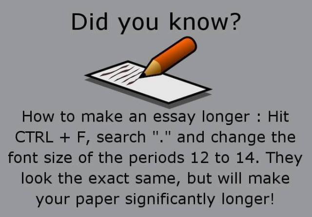 How to make your essay longer periods