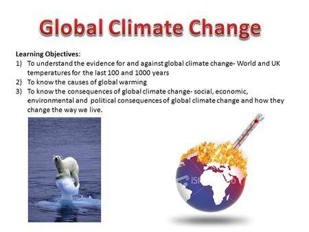 Global warming research paper topics