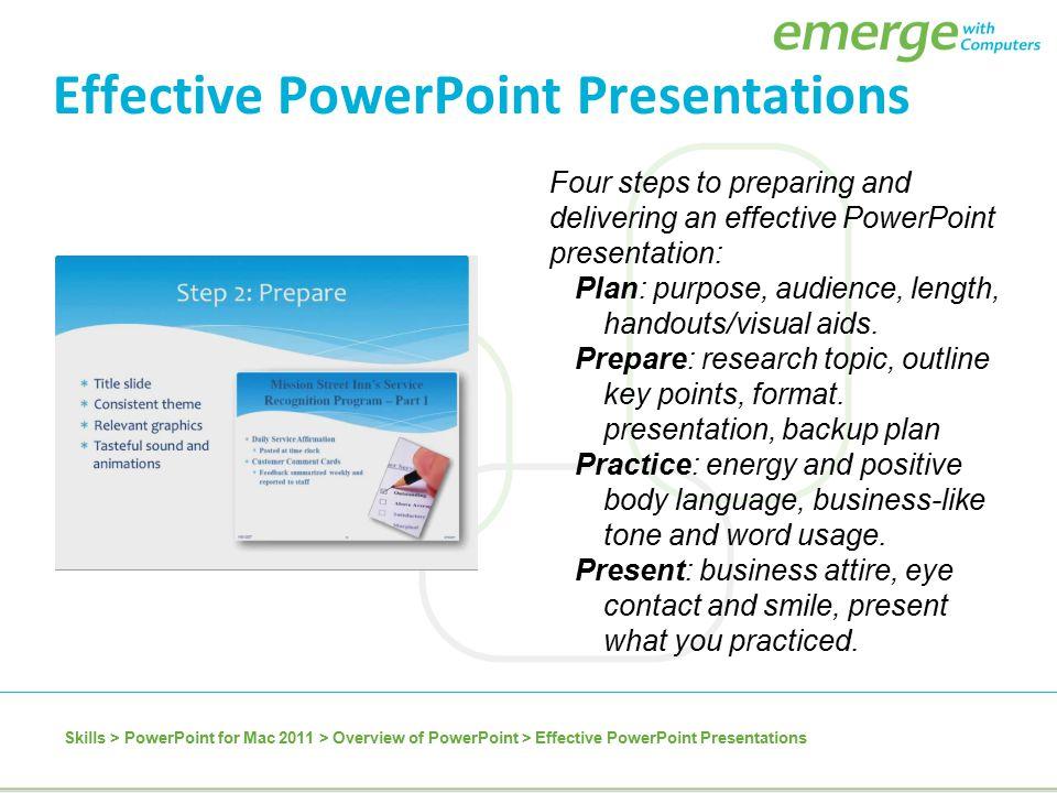 Powerpoint presentation of