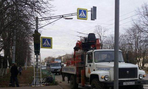 Наостановке «Научприбор» установили светофор